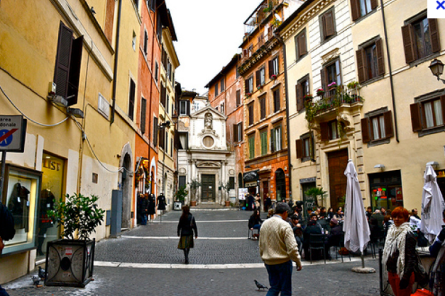 Traditional pedestrian oriented public space in Rome -Google images
