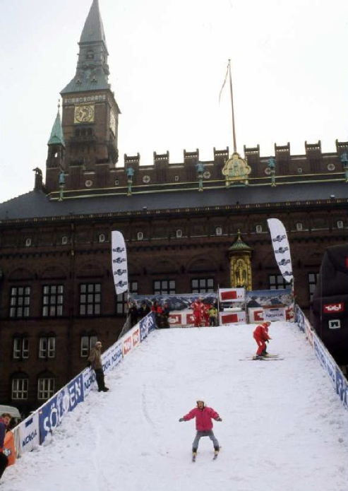 Quebec City.  Downhill ice skating races through the center on the city.- courtesy of Google Images
