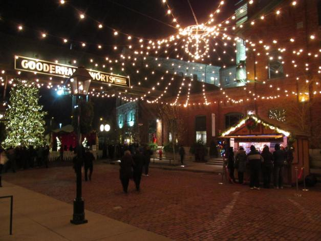 Toronto, Distillery District.Annual Christmas Market - Main Street activity
