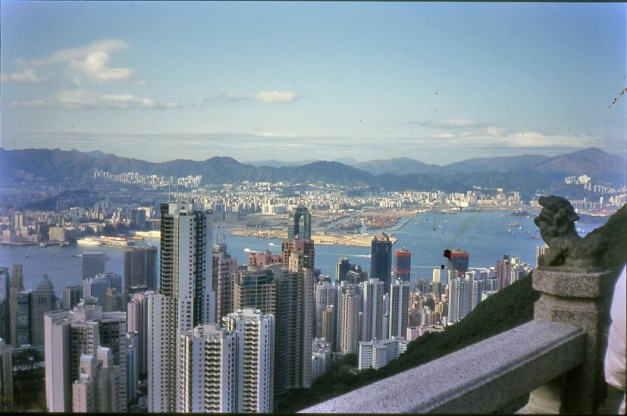 "Hong Kong Island- view from ""the Peak"".- courtesy Archive DS"