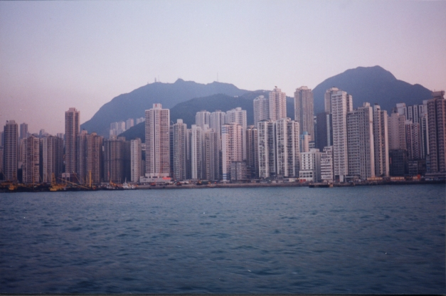 Hong Kong Island- view from Kowloon mainland.- courtesy Archive DS