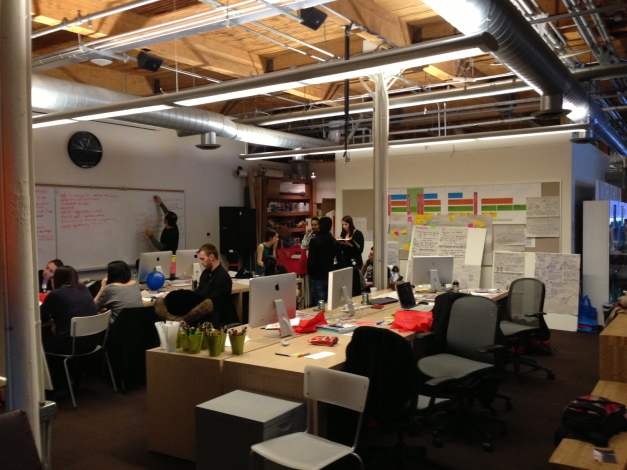IWB Studio space located in a renovated warehouse structure in downtown Toronto - Team 13 working on the charrette